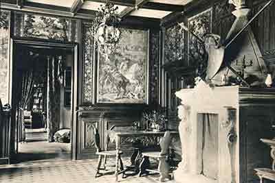 Pałac w Tarnogórze - wnętrze - przed wojną